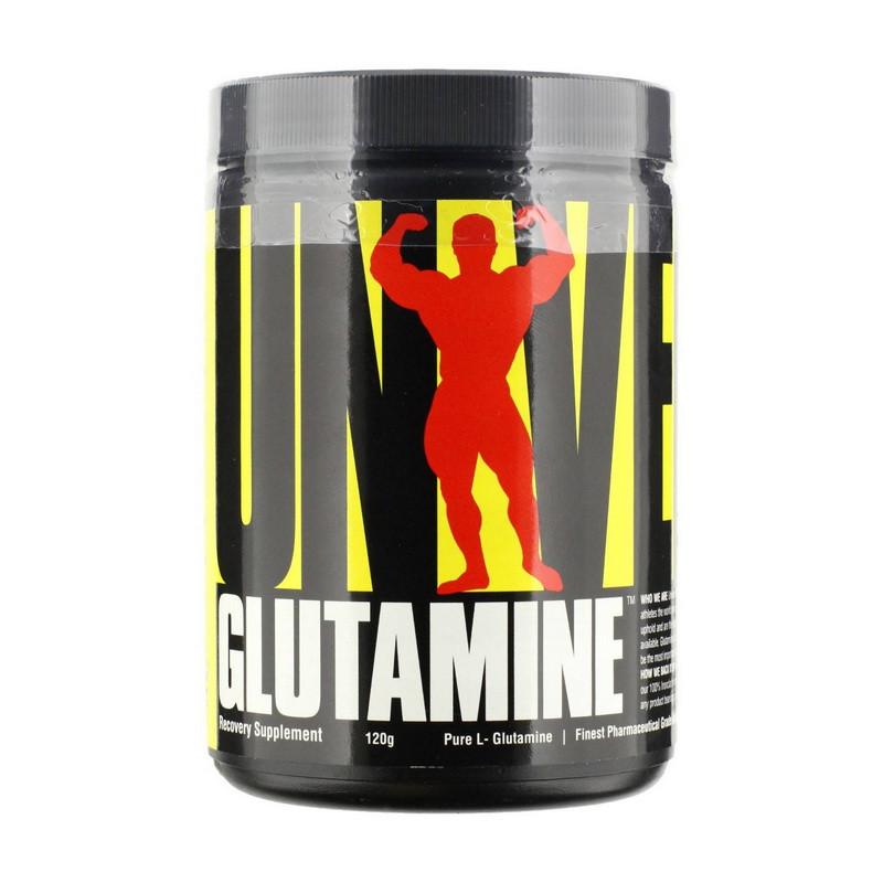 Глютамин Universal Glutamine (120 г) юниверсал нутришн unflavored