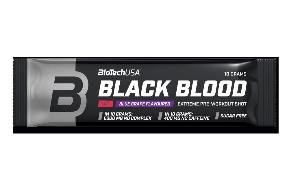 Предтреник BioTech Black Blood Caf+ (10 г) биотеч блек блад blue grape