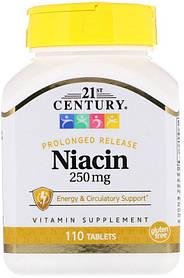 Ниацин 21st Century Niacin 250 mg (110 таб) 21 век центури