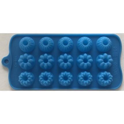 """Силиконовая форма для конфет """"Цветы"""" арт. 840-610, фото 2"""