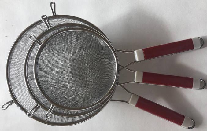 Друшляк-сито посилений з пластиковою ручкою 19 см арт. 840-4-2, фото 2