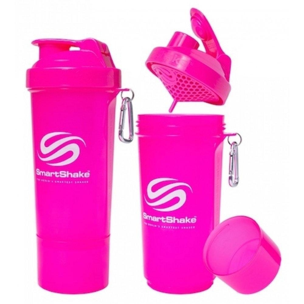 Шейкер спортивный SmartShake Slim NEON Pink  (500 мл)
