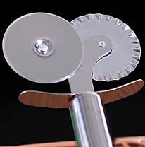 Нож для пиццы (3,5 см, два лезвия, нержавеющая сталь), арт. 11-2, фото 2