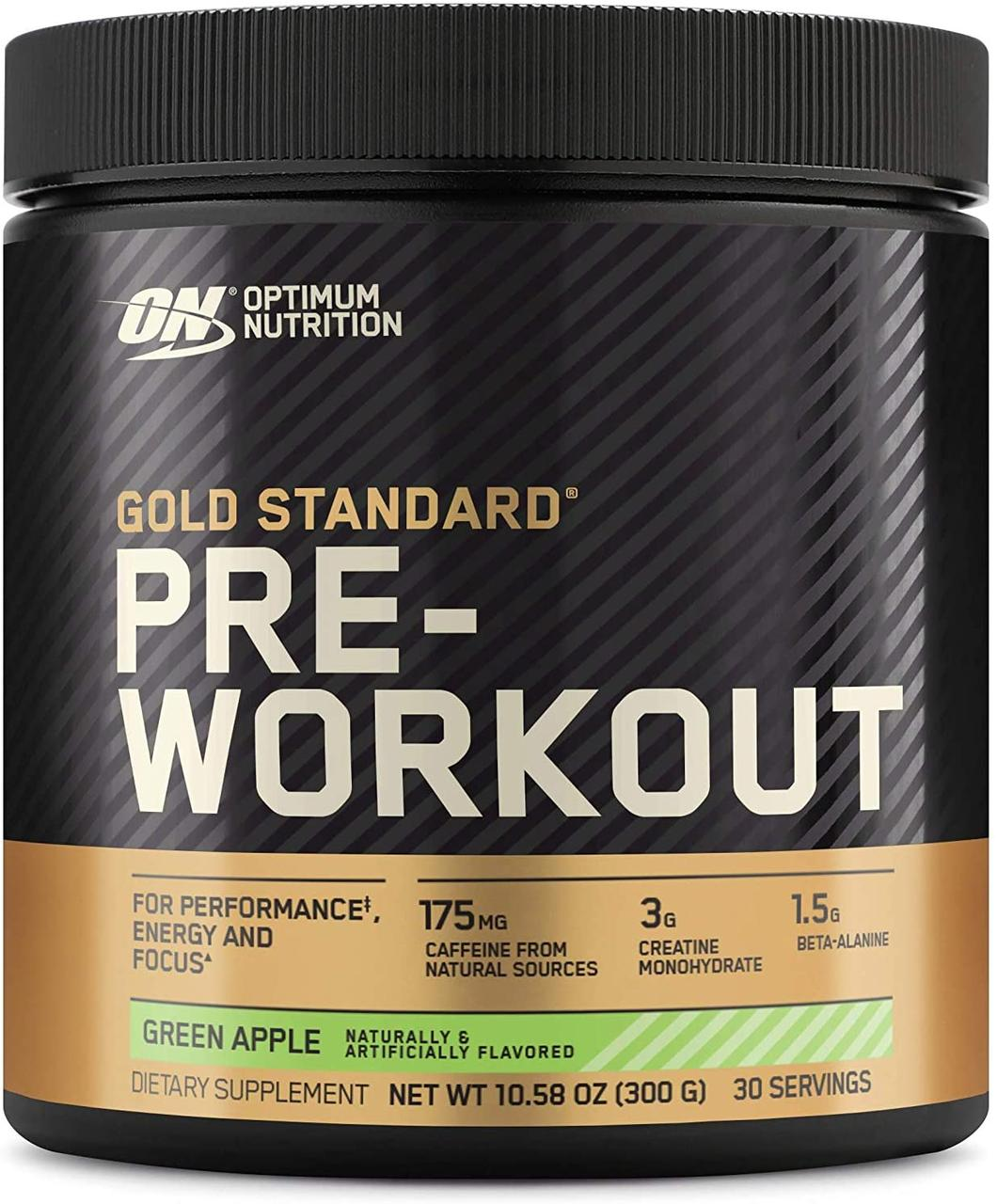 Предтреник Optimum Nutrition Pre-Workout gold standard (300 г) оптимумт нутришн green apple