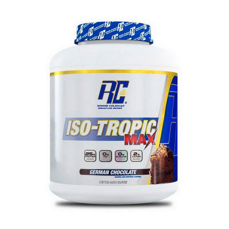 Сывороточный протеин изолят Ronnie Coleman ISO-Tropic MAX (1,56 кг) ронни колеман изотропик german chocolate