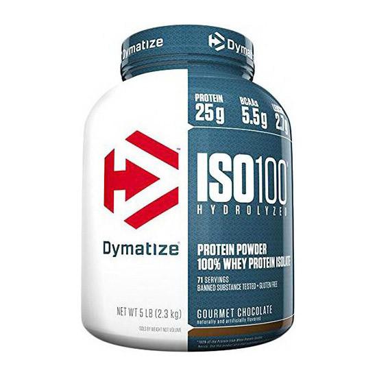 Сироватковий протеїн гідролізат Dymatize ISO 100 (2.3 кг) диматайз з ваніль