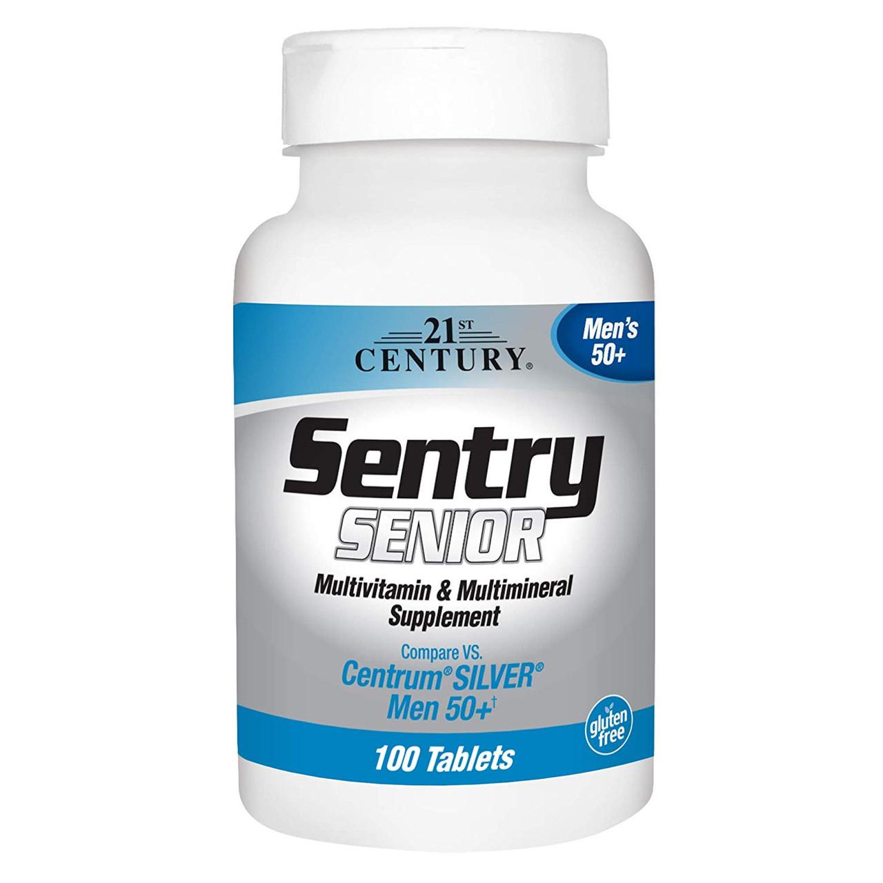 Витамины для мужчин 21st Century Sentry Senior Men`s 50+ (100 таб)  21 век центури