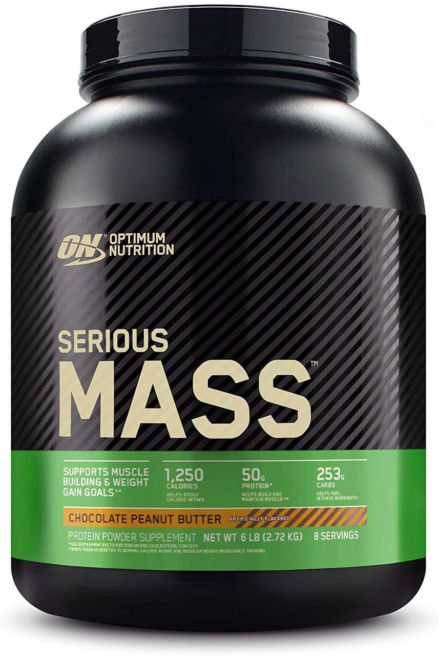 Гейнер для набора массы Optimum Nutrition Serious Mass (2,72 кг) оптимум нутришн сириус масс chocolate peanut