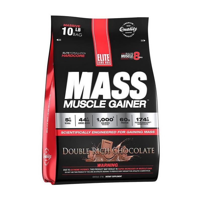 Купити для набору маси ELITE Labs Muscle Mass Gainer (4,6 кг) еліт лабс strawberry milkshake