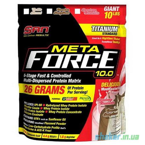 Комплексный протеин SAN Meta Force 10.0 (4,55 кг) сан мета форс  ваниль