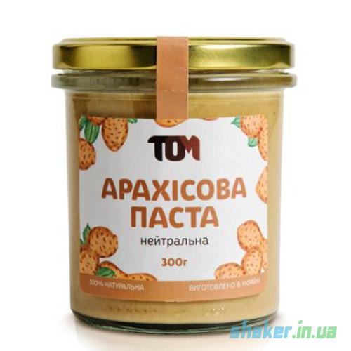 Натуральная арахисовая паста ТОМ (300 г) солодке