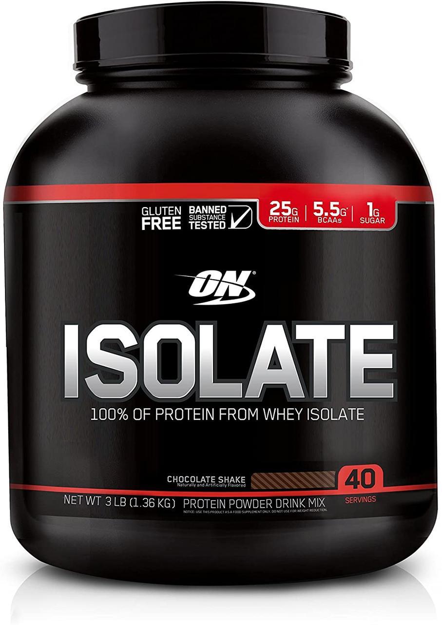 Сывороточный протеин изолят Optimum Nutrition Isolate (1,36 кг) оптимум нутришн chocolate shake
