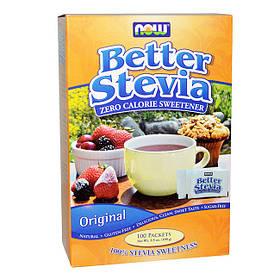 Натуральний цукрозамінник Now Foods Better Stevia 100 packets (100 г) нау фудс стевія