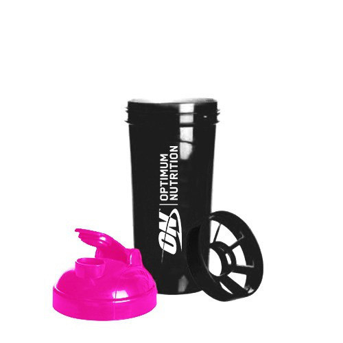 Шейкер спортивный Optimum Nutrition ON Black/Pink (700 мл)