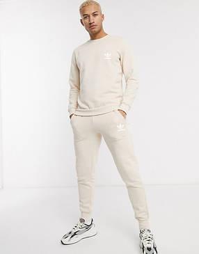 Спортивний костюм жіночий Adidas (Адідас) Бежевий, фото 2