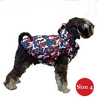Жилет для собаки утеплений DIEGO sport 4/1микс, розмір 4