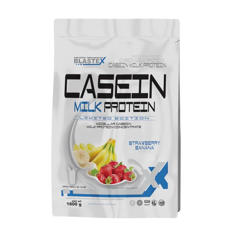 Казеин BLASTEX Casein Milk Protein (1.8 кг) бластекс клубника-банан