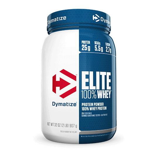 Сывороточный протеин концентрат Dymatize 100% Elite Whey Protein (920 г) диматайз элит вей  strawberry blast