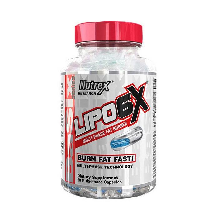Жиросжигатель Nutrex Lipo 6X BaSix series (60 капс) нутрекс липо 6