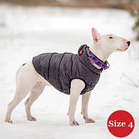 Жилет для собаки утепленный DIEGO sport 4/2 серый, размер 4