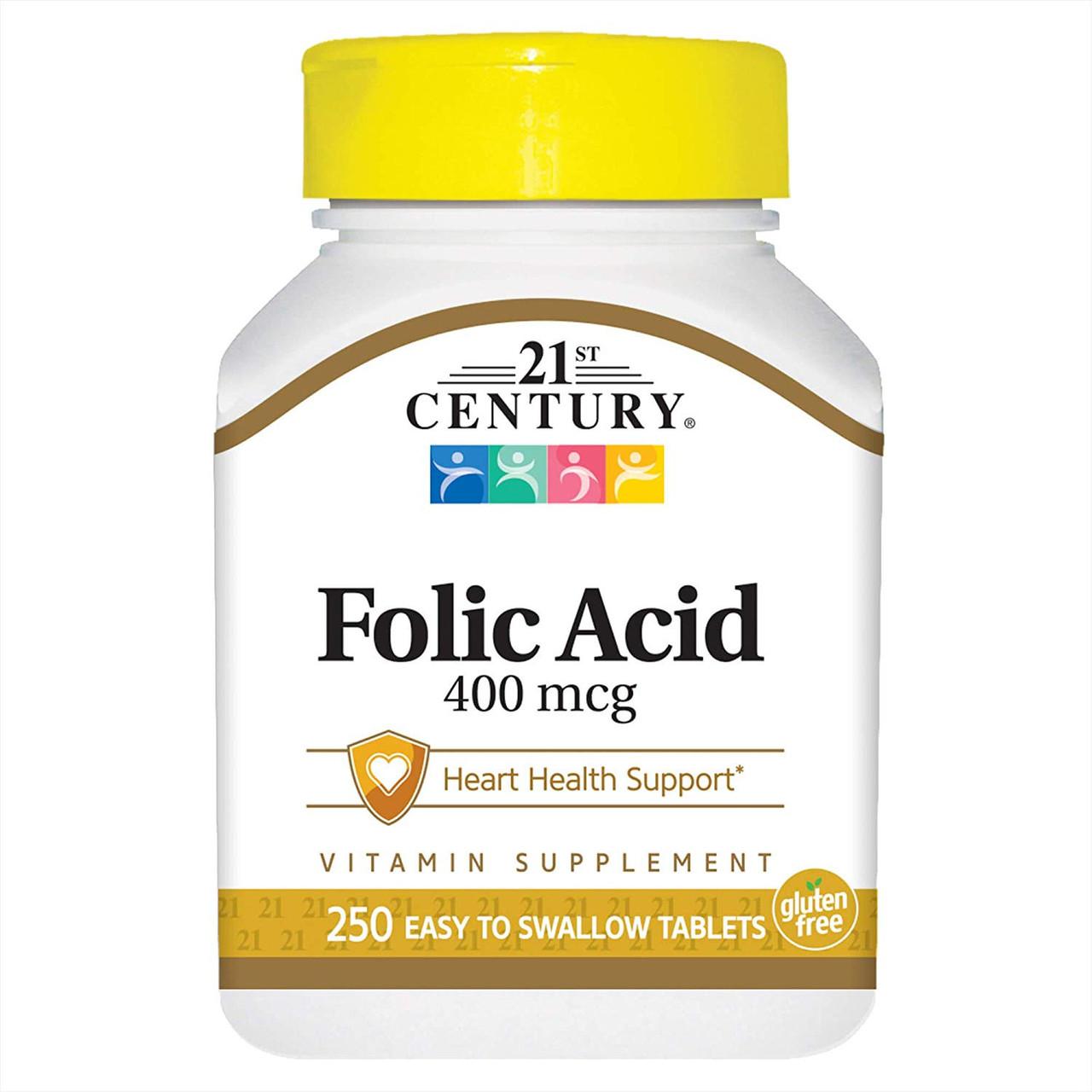 Фолиевая кислота 21st Century Folic Acid (250 табл) 21 век центури