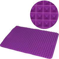 Противень-коврик для выпечки Hauser Пирамида силикон 40x29 см Фиолетовый HH-686psg, КОД: 168122