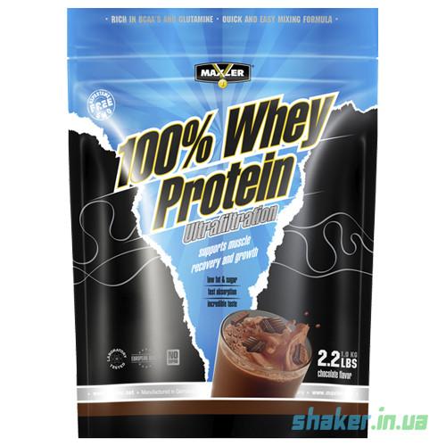 Сывороточный протеин концентрат Maxler 100% Whey Protein Ultrafiltration (1 кг) макслер вей raspberry