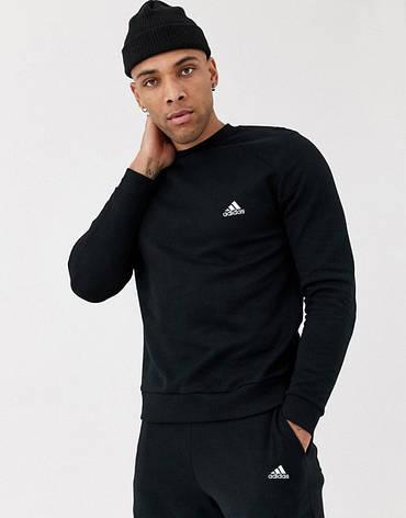 Спортивный костюм мужской Adidas (Адидас) Черный, фото 2