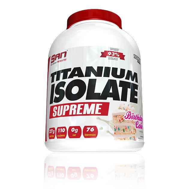 Сывороточный протеин изолят SAN Titanium Isolate Supreme (2,27 кг) сан титаниум strawberry yogurt