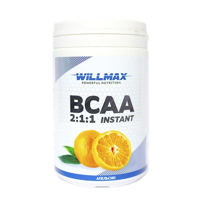 БЦАА Willmax BCAA 2:1:1 Instant (400 г) вилмакс Апельсин