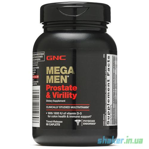 Витамины для мужчин GNC Mega Men Prostate & Virility (90 таб) для простаты мега мен
