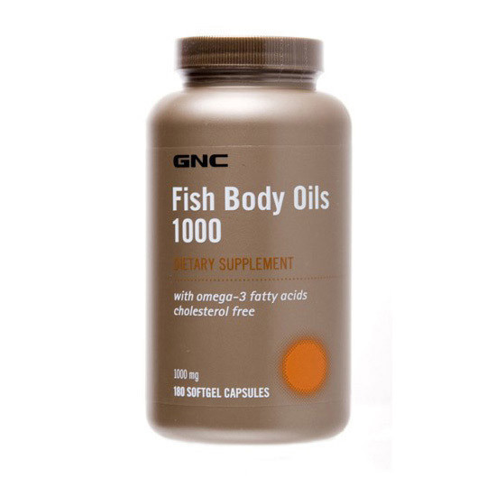 Омега 3 GNC Fish Body Oils 1000 (180 капс) рыбий жир гнс