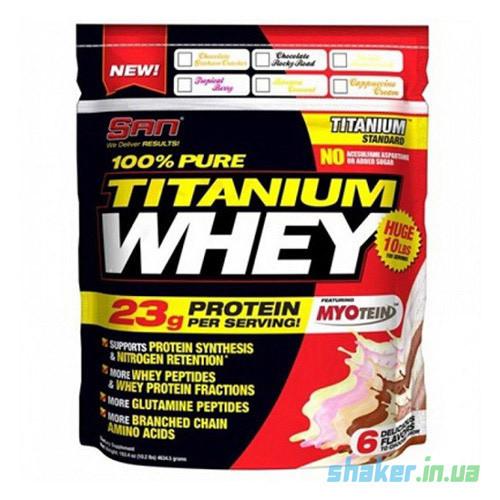 Сывороточный протеин изолят SAN 100% Pure Titanum Whey (4,63 кг) сан титаниум вей chocolate rocky road