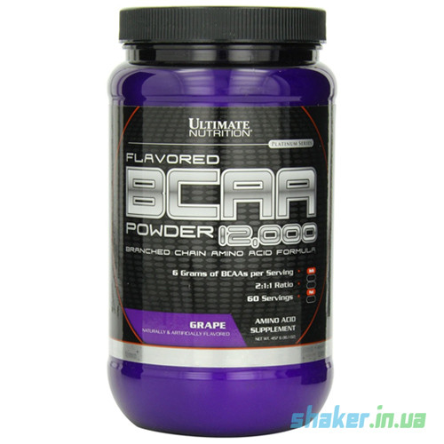 БЦАА Ultimate Nutrition BCAA 12,000 (457 г) ультимейт нутришн grape