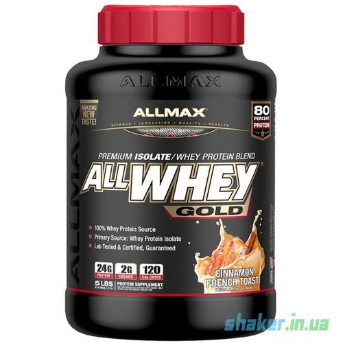 Сывороточный протеин изолят AllMax Nutrition AllWhey Gold (2,27 кг) алмакс нутришн  chocolate