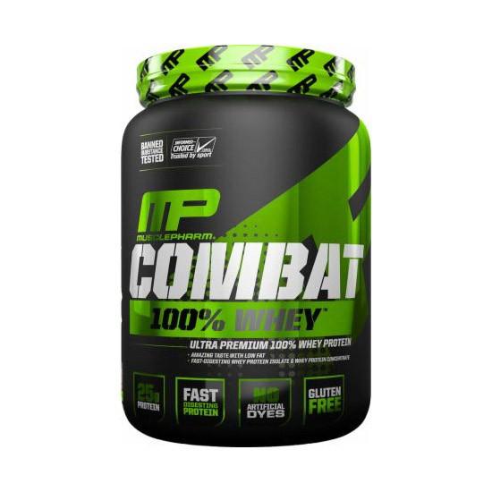Сывороточный протеин изолят Muscle Pharm Combat 100% Whey (2,27 кг) масл фарм комбат вей  strawberry