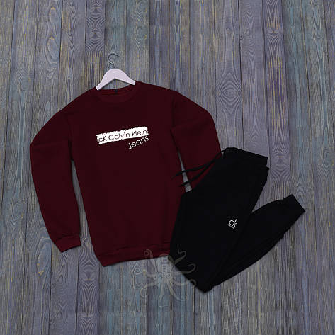 Спортивний костюм реглан червона кофта і чорні штани адідас, фото 2