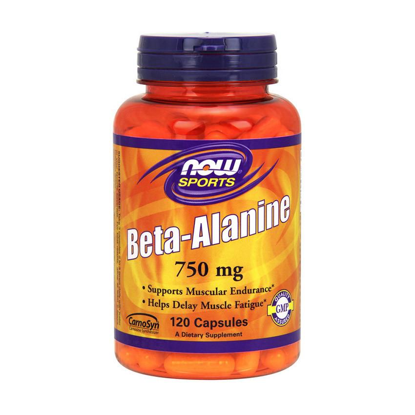Бета аланин Now Foods Beta-Alanine 750 mg (120 капсул) нау фудс