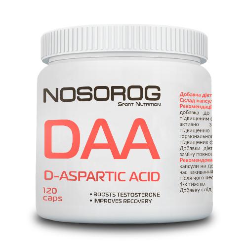 D-аспарагиновая кислота Nosorog DAA (120 капсул) носорог даа