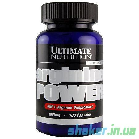 Л-Аргинин Ultimate Nutrition Arginine Power (100 капсул) ультимейт павер