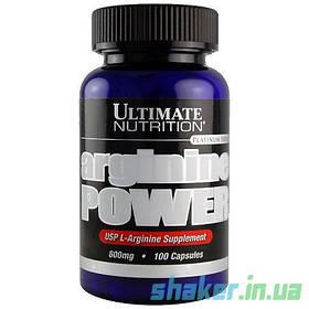 Л-Аргінін Ultimate Nutrition Arginine Power (100 капсул) ультімейт павер