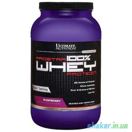 Сывороточный протеин изолят Ultimate Nutrition Prostar Whey 100% (907 г) ультимейст простар вей  rum raisin