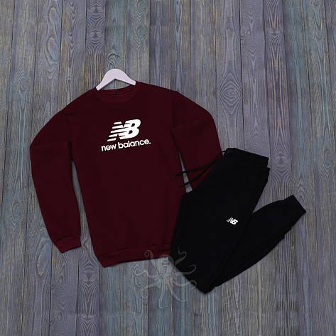 Спортивний костюм реглан красная кофта и черные штаны нью беленс, фото 2