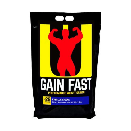 Гейнер для набора массы Universal Gain Fast (5.9 кг) юниверсал гейн фаст vanilla shake