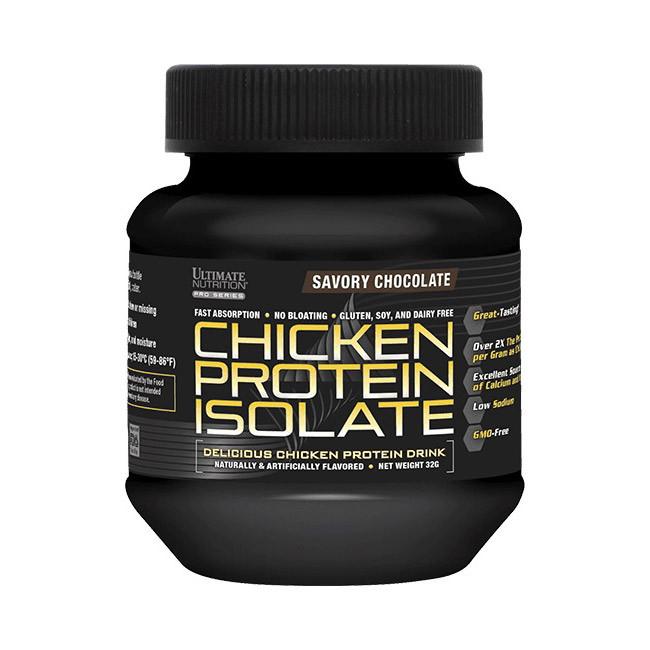 Сироватковий протеїн ізолят Ultimate Nutrition Chicken protein isolate (32 г) ультімейт чікен strawberry punch