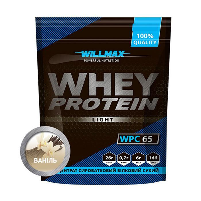 Сывороточный протеин концентрат Willmax Whey Protein 65 (1 кг) вилмакс вей персиковий йогурт
