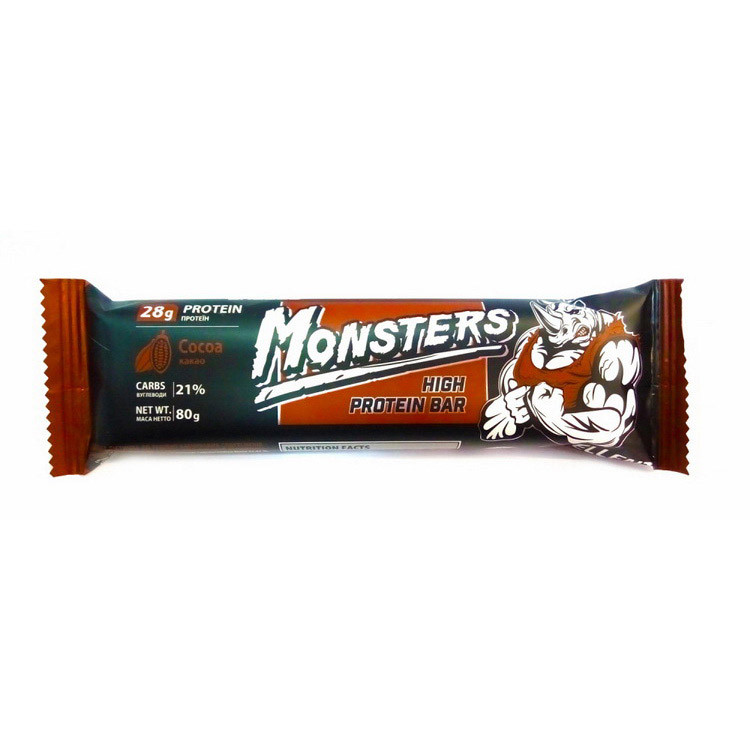 Протеїновий батончик Monsters High Protein Bar (80 г) монстерс french plum