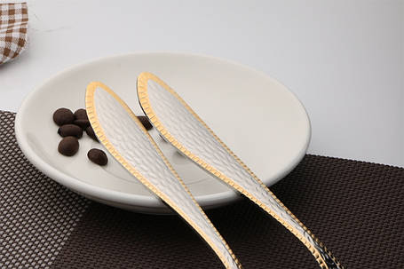 """Нож столовый """"EXTRA"""" AYD с золотом (полированная нержавеющая сталь 18/10, 6 шт. в упаковке), арт. 1182014Z, фото 2"""