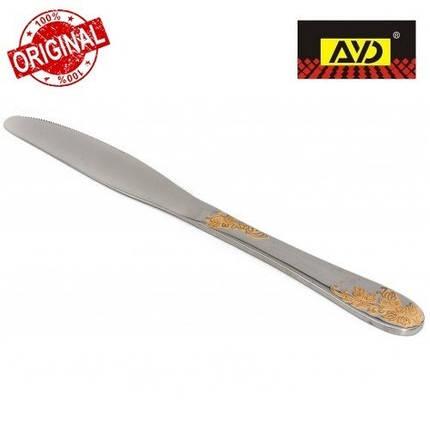 """Нож столовый """"Золотая ветка"""" AYD (полированная нержавеющая сталь, 6 шт. в упаковке), арт. 162504, фото 2"""