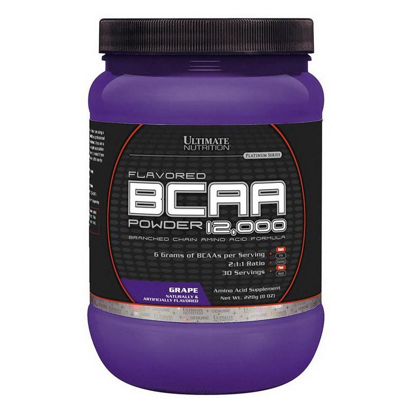 БЦАА Ultimate Nutrition BCAA 12,000 (228 г) ультимейт нутришн blue raspberry